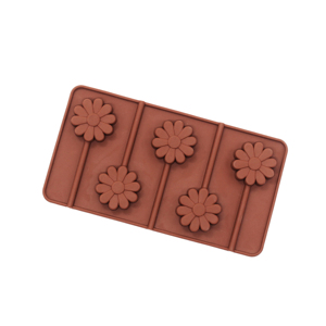 Hot Sale 5-Cavity Silicone Candy Jelly Chocolate Lollipop Molds