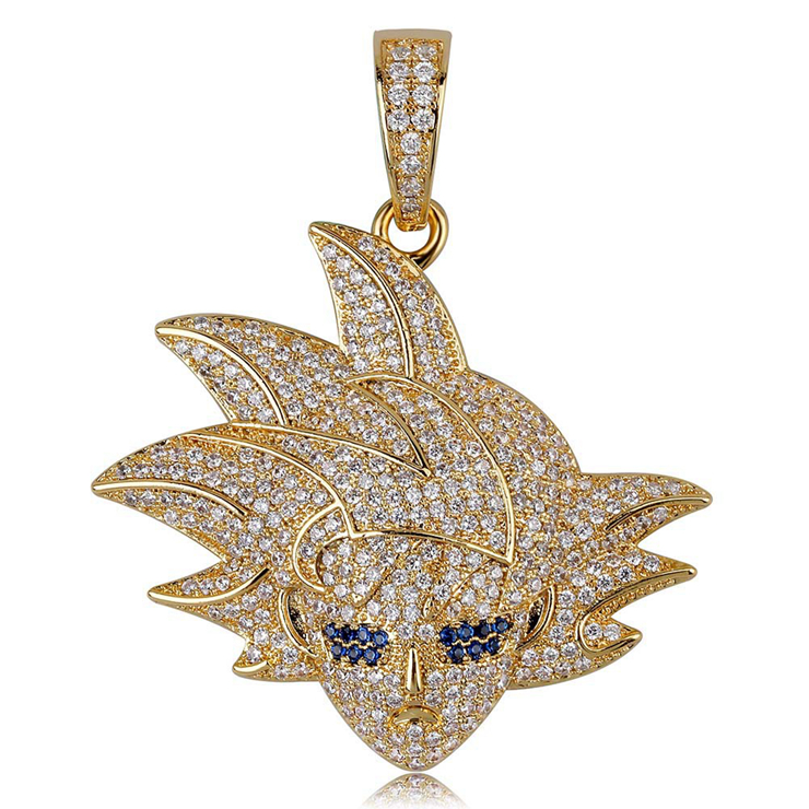 Hot Sale CZ Copper Gold Plated Jewelry Dragon Ball Son Goku Pendant Necklace фото