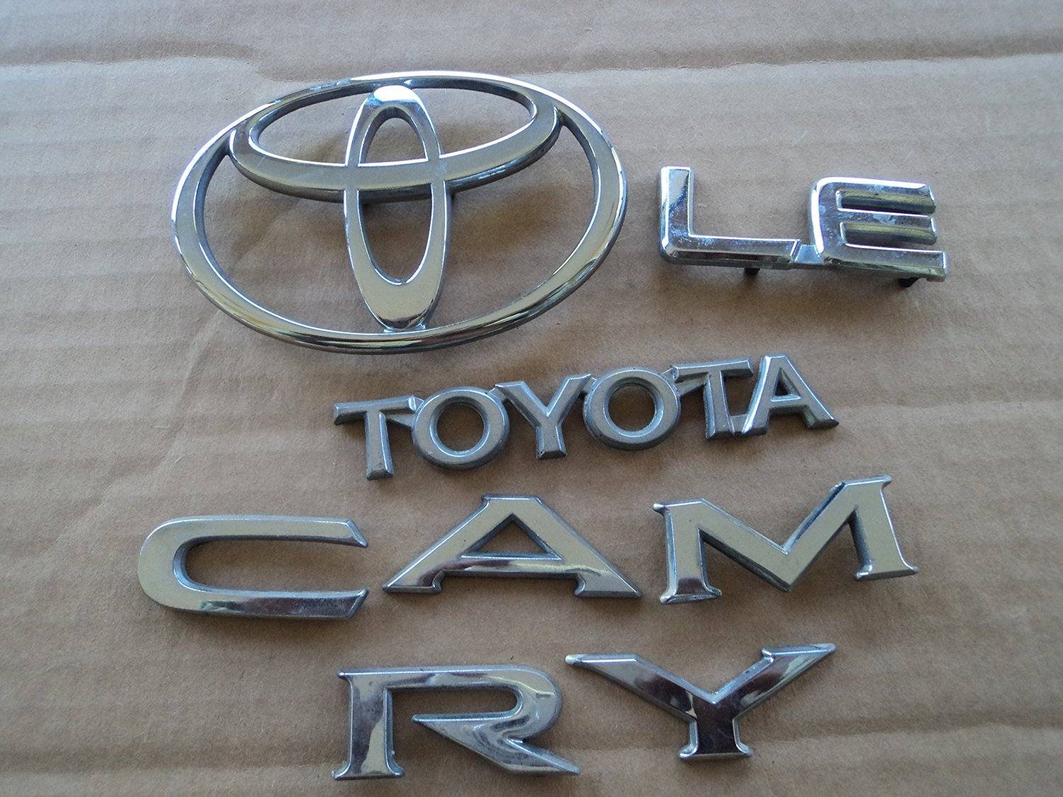 92 94 Toyota Camry Le Lid Trim Chrome Logo Badge Separated Used Emblem Decal Set