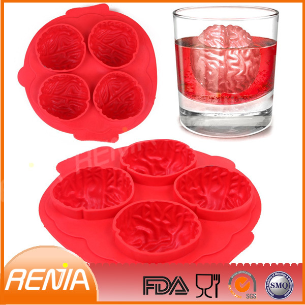 ice cube tray mould form brain shape maker and silicone brain ice tray