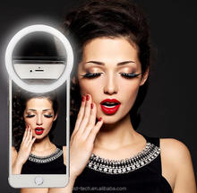 Rechargeable round selfie lights clip ring light