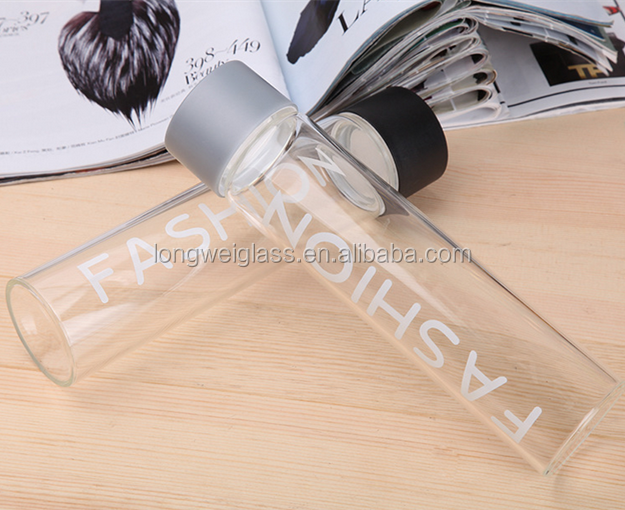 Popular Tall Small Glass Water Bottles/Cups For Outdoor/Travel bottle