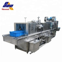 High pressure water washing plastic crate making machine/plastic pallet washer/baskets cleaning machine