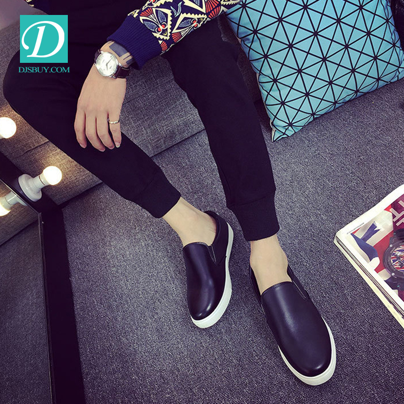 2016 Men Designer Shoes For Men Casual Shoes Fashion Leather Flat Slip On Shoes