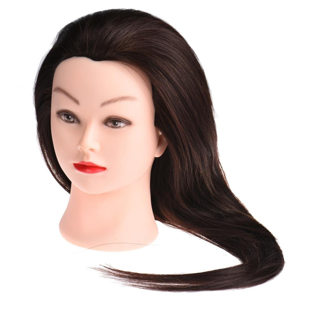 Get Quotations Inkach Mannequin Training Head Female Heads Manikin Hairdressing Dye Cutting Practice Model Brown
