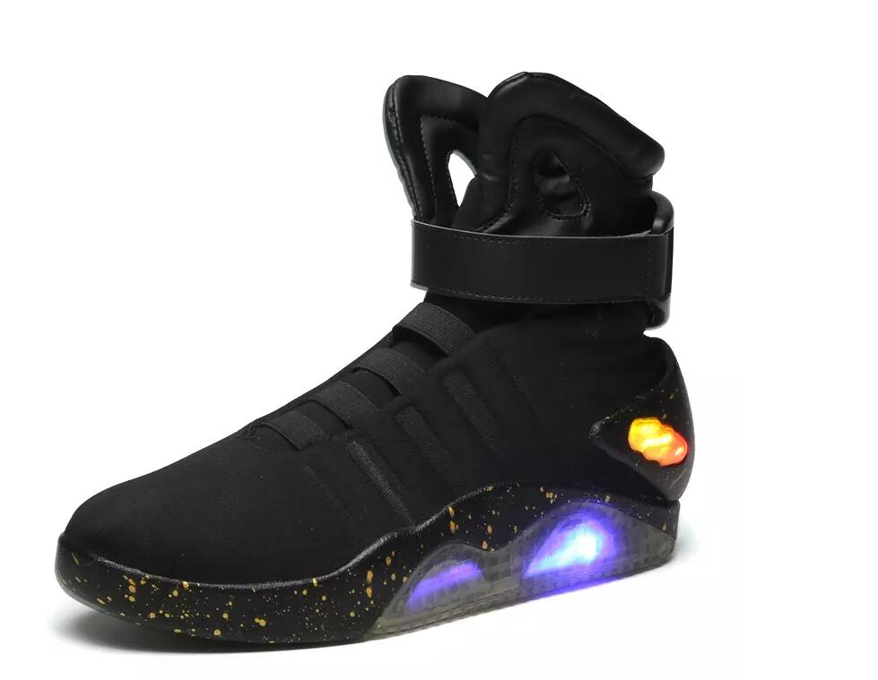 Air Mag <strong>Shoes</strong> Marty McFly's LED <strong>Shoes</strong> Back To The Future Glow In The Dark Gray/Black Mag Marty McFlys <strong>Shoes</strong> With Box