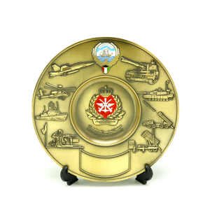 customized new design metal engraved trophy souvenirs plate