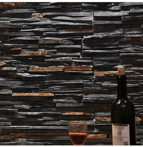 Wholesale Cheap Wall Cladding Tiles Natural Culture Stone Black Slate