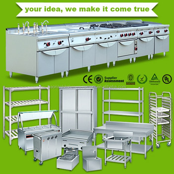 Stainless Steel commercial modern design kitchen cabinet/kitchen project for sale