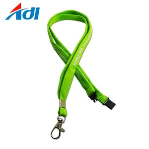 Promotional custom polyester printed green break away school lanyards