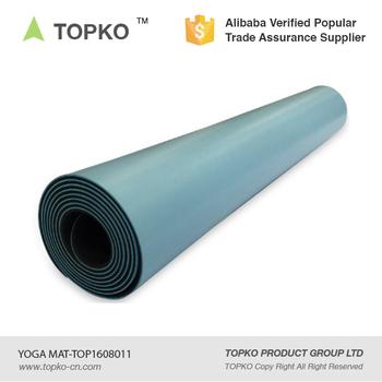 topko 2017 cheap custom printed yoga mat eco friendly natural bulk