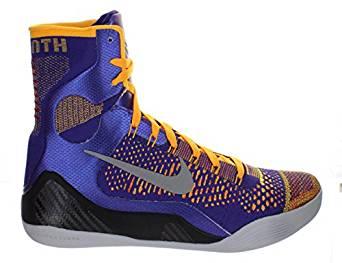 "Nike Kobe IX Elite ""Team"" Court Purple - White - Laser Orange - Wolf Grey"