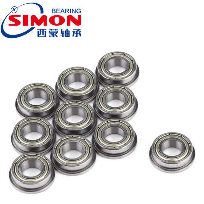 Flanged Bearing 8x24x8mm Shielded Miniature Deep Groove Ball Bearings F628ZZ