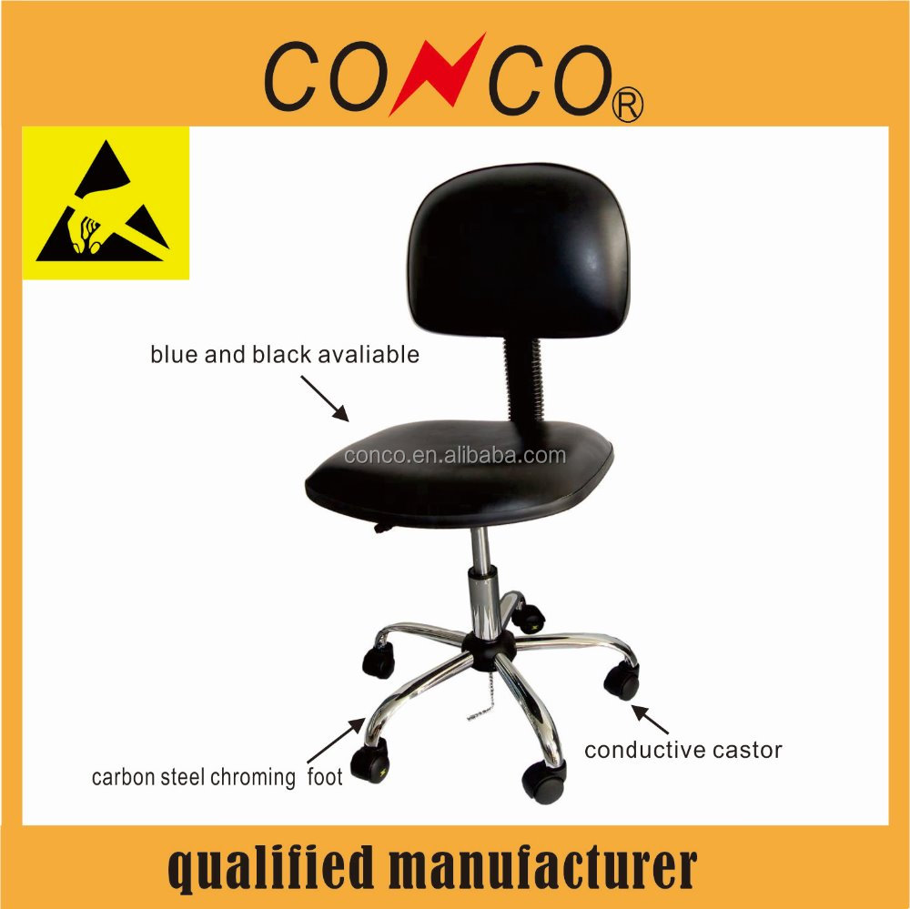esd chair with armrest antistatic leather chairs