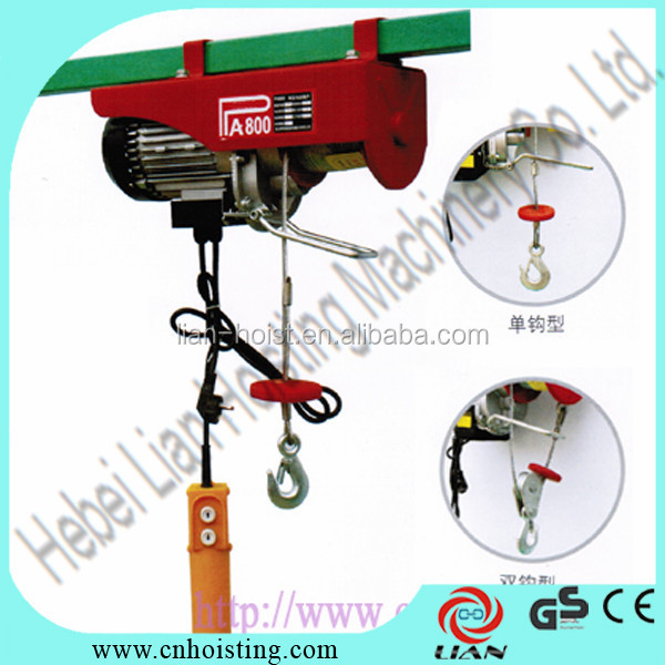 HSY 0.5-5T portable electric winch hoist 12v dc
