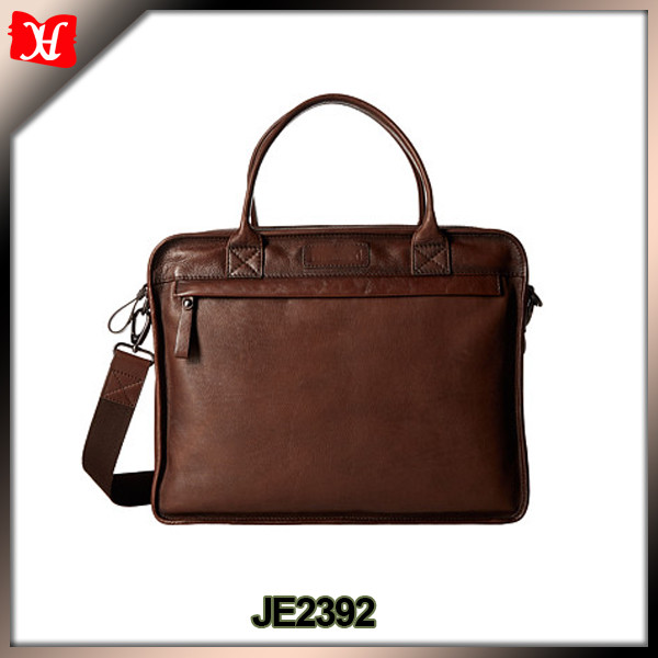 Hot Selling real leather 15 Inch Computer Bag Customized leather Laptop Bag