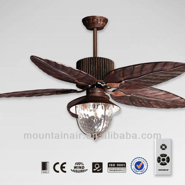 bois artisanat lame ventilateur de plafond lampe. Black Bedroom Furniture Sets. Home Design Ideas