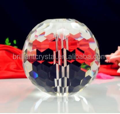 100mm Brilliant crystal faceted ball with holes for chandelier lamp parts