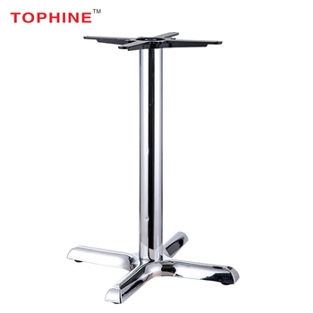 Modern Style Metal Furniture Legs Removable Chrome Table Leg, Glass Table  Base Steel