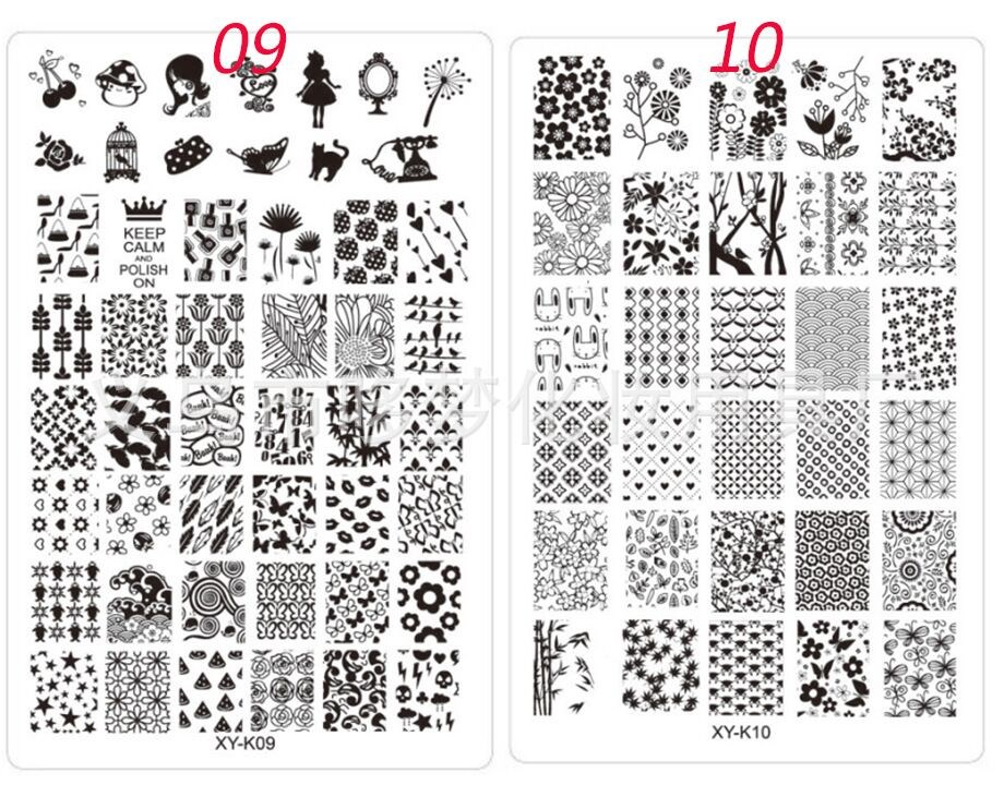30 Designs Nail Stamping Plates Nail Art Stamping Plates With ...