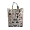 foldable waterproof pvc coated fabric packaging shopping tote bag