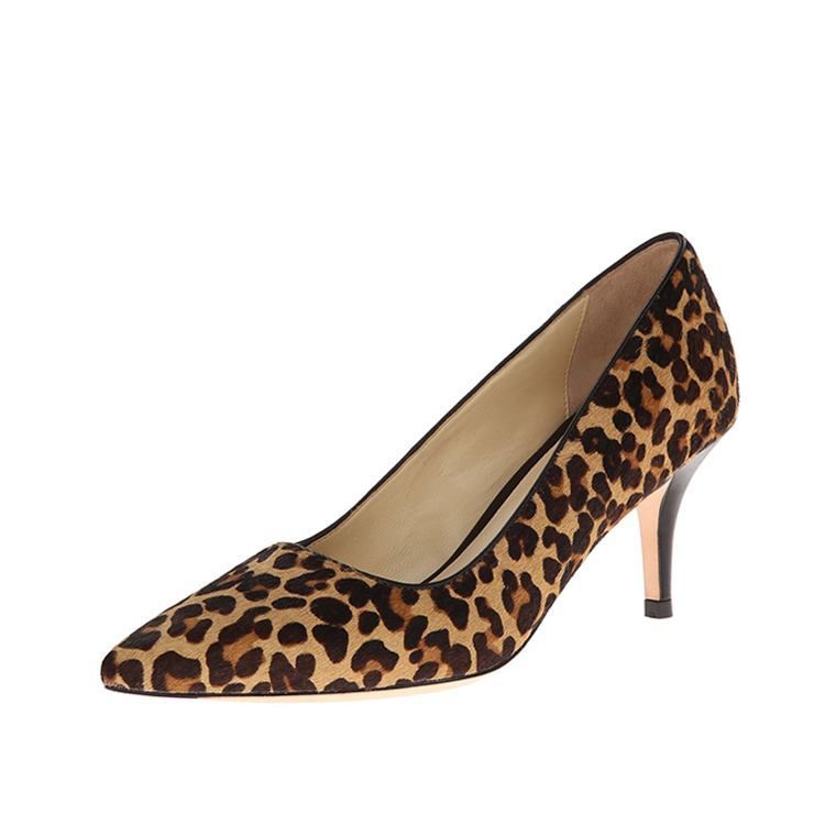 Leopard grain fashion custom made shoes women pumps shoes 2017