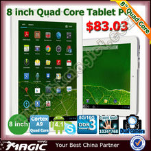 Quad core tablet 8 inch with very low price