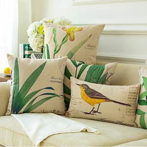 High quality 100% linen material 45*45 cm size cushion covers decorative