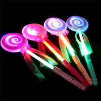 Fashion Kids Led Light-Up Lollipop Glow Sticks Toys Flashing Fairy Wand Sticks Birthday Return Gift Party Accessories