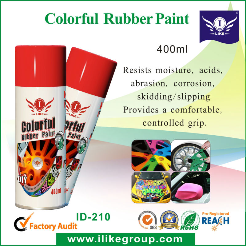 450ml Acrylic Aerosol Removeable Car Rubber Paint Spray With ...