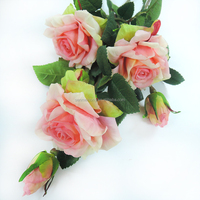 Wholesale Artificial Silk Rose Flowers Wedding Bouquet