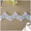 DHBL1833 Bridal Lace White Venise Lace Trim 6cm Wide Crafting Embellishment By The Yard