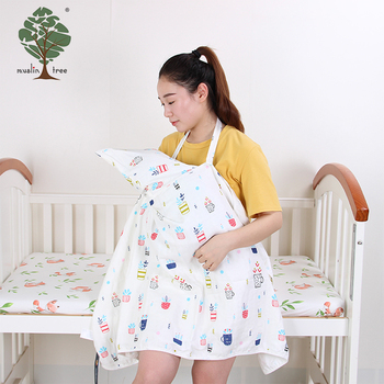 Muslin tree 100% cotton design nursing cover baby breastfeeding apron
