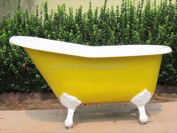 hot cast iron tub clawfoot baby bath tub with stand