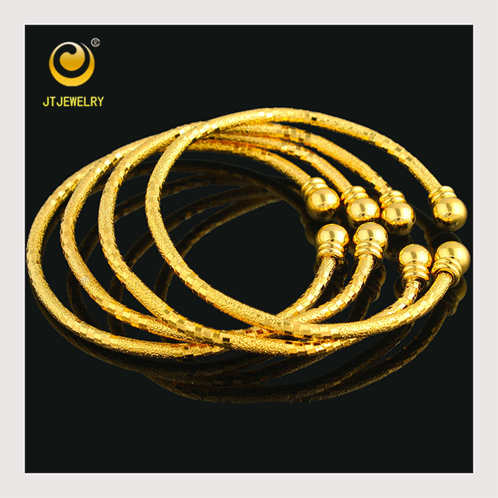 Wholesale Gold bangles Jewelry New Gold Charm Bracelet Bangle