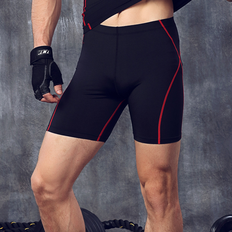 Fitness men's Compression running training Streth Tights shorts trousers sports five points Pants