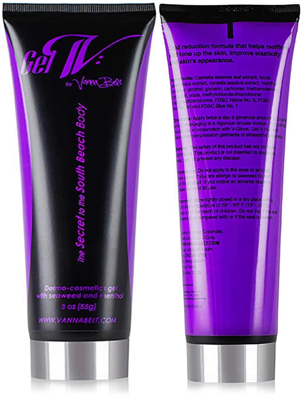 Stretch Marks - Vanna Belt Gel-V Mini - 3 oz - Airplane Approved -Formulated to Fade Stretch Marks -Made to Tighten Sagging Skin -Perfect for Areas That Diet and Exercise Miss (Stomachs, Thighs, Hips)