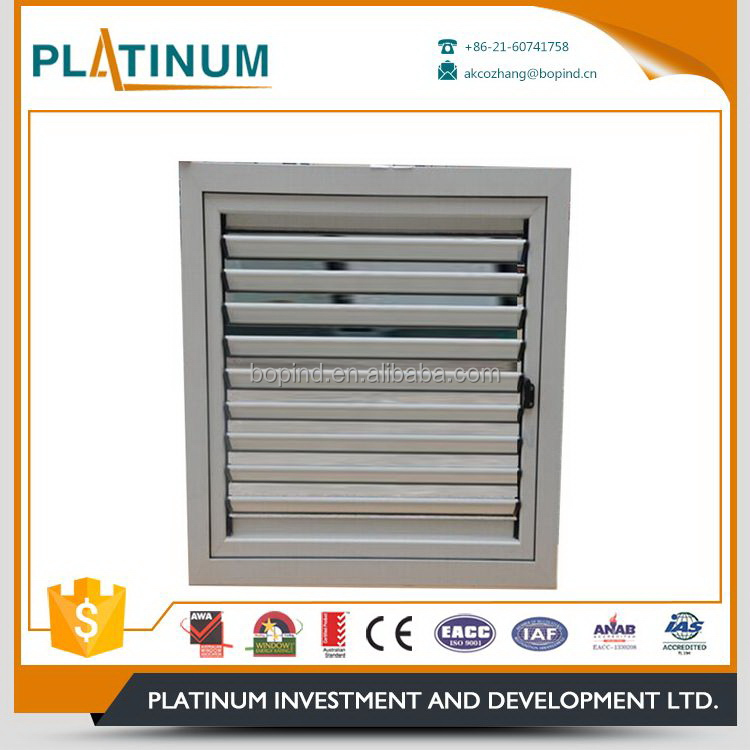 Interior decorative attractive design good ventilating louver window hardware