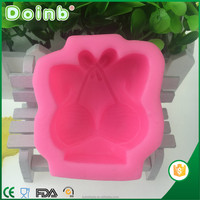Doinb best price china factory supplier custom 3D bra shaped fondant silicone molds for cake decorating baking tools ST2853