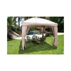 """Garden Gazebo, Canopies- This an amazing Garden Gazebo 10""""x10"""" Portable Pergola With Netting And Single Roof, for patio outdoor parties. The canopies, pergolas with roof provides Uv, water resistant blocking out rain and snow ,With a double valance and tie-back curtains!Guaranteed!"""