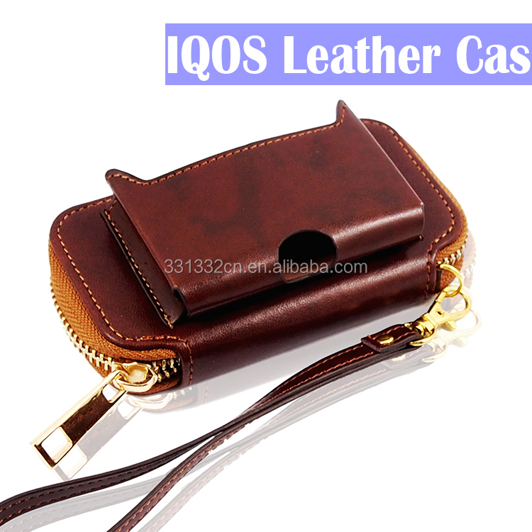 e cig Leather IQOS Case Cover Portable Dust Protector For iQos Protective Case
