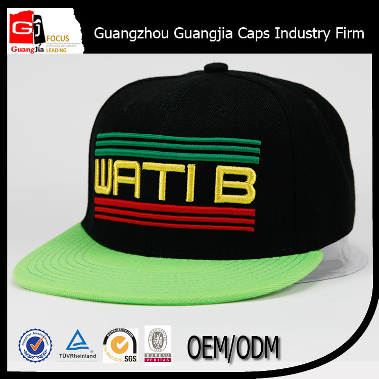 China Wholesale Guangjia Caps Industry Co Ltd Custom Embroidery Design Snapback Cap