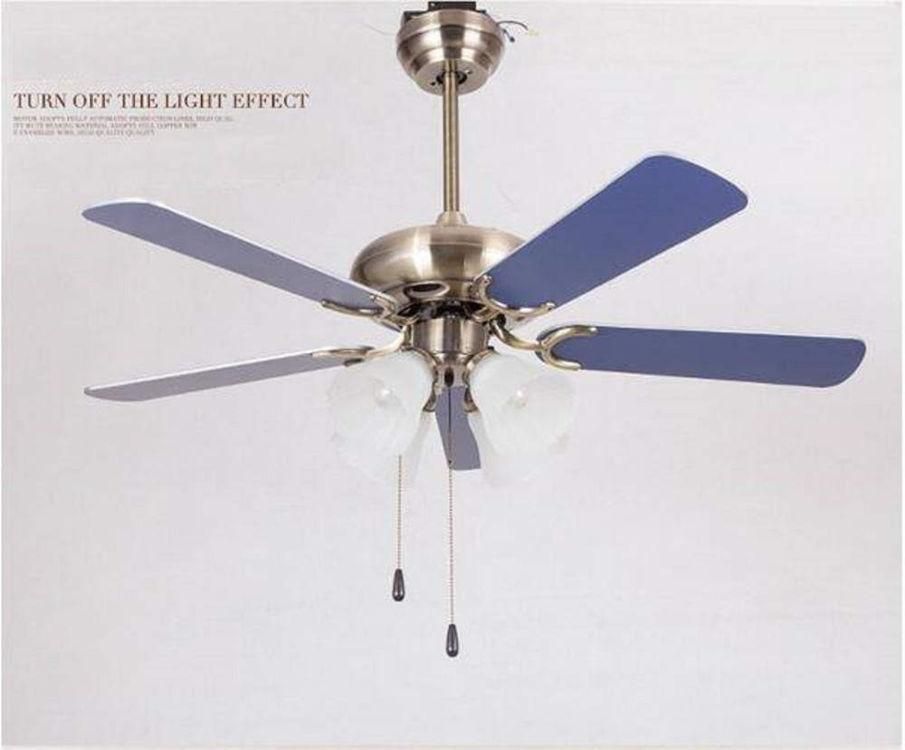Ceiling fan with e27 bulb wood blades ceiling fan with light