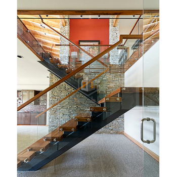 Wood Folding Stairs Design Straight Wooden Staircase