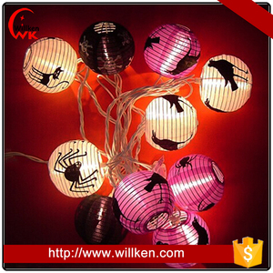Holiday decor Halloween spider string light lantern
