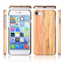 High Quality PU Leather With Wood Pattern Mobile Phone Case Accessories for iPhone 7 7plus