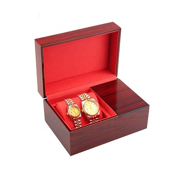 High glossy finish multicolor wooden jewelry wooden watch case