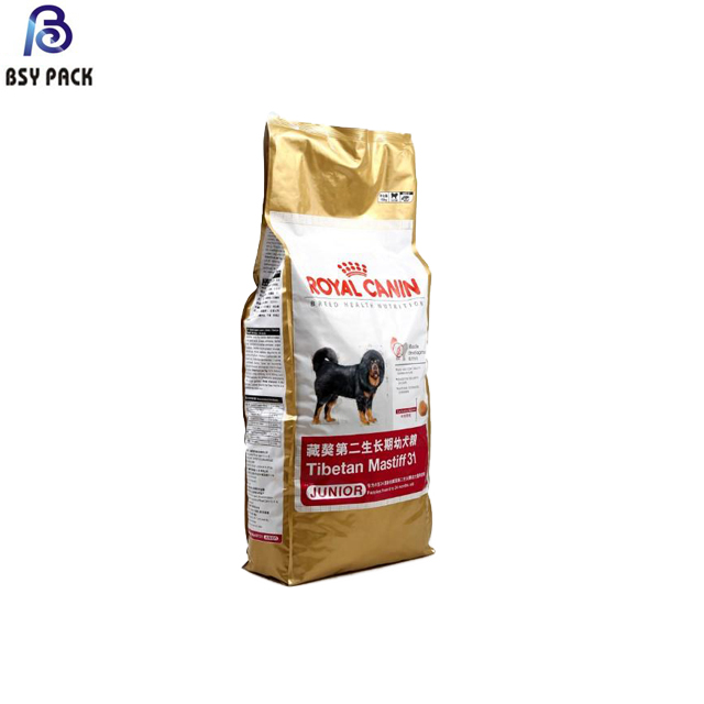 Customer printed big capacity pet food bag 1kg-10kg mositure proof top zip lock stand up plastic packing bag