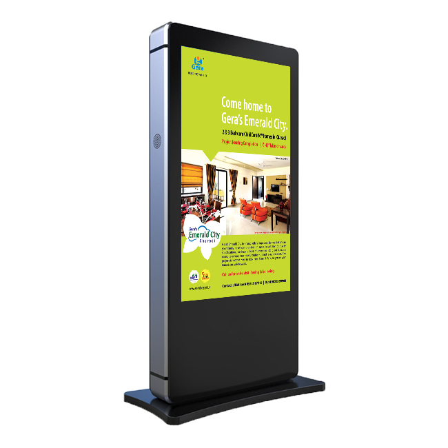 Outdoor 21 zoll lcd ad-player digital signage beeindruckende werbung telefon lade kiosk hohe helligkeit stand alone