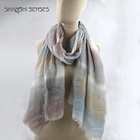 100% polyester cheap crinkle print scarf for women